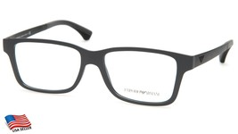 New Emporio Armani Ea 3018 5216 Grey Eyeglasses Frame 53-16-145 B37mm Italy - $143.54