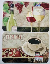 PLASTIC PLACEMATS Set of 4 Reversible Wine Grapes Coffee Cafe Place Mat - $14.99
