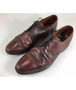Allen Edmonds Clifton Shoes 11 D Mens Brown Leather Cap Toe Oxford Dress - $122.50
