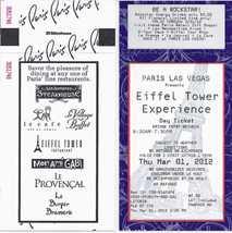 EFFEL TOWER EXPERIENCE @ PARIS LAS VEGAS Day  Ticket, Used - $2.95