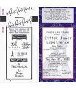 EFFEL TOWER EXPERIENCE @ PARIS LAS VEGAS Day  Ticket, Used - $2.95