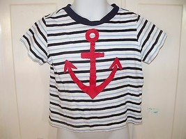 First Impressions Play Striped Anchor T-Shirt Size 24 Months Boy NWOT - $15.80
