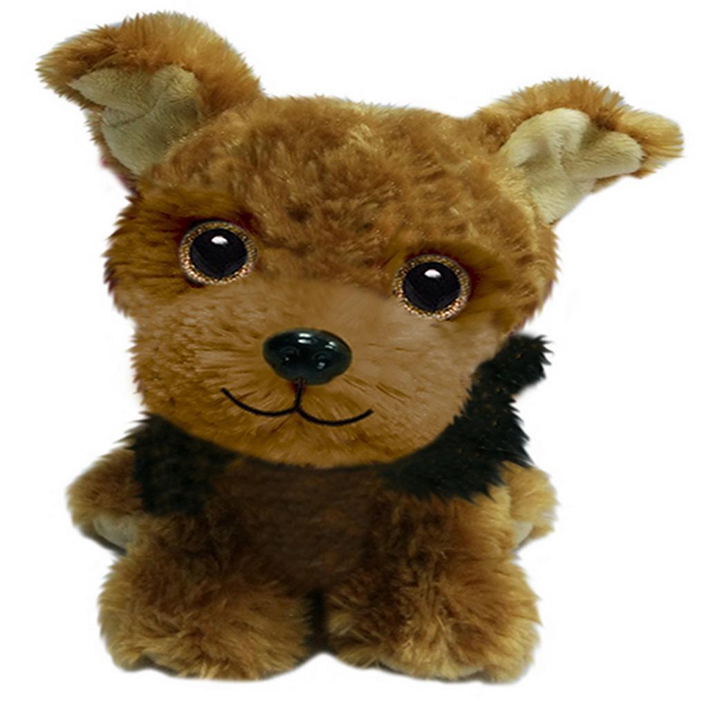 Yorkie Stuffed Animal Plush Dog with Carrying Case