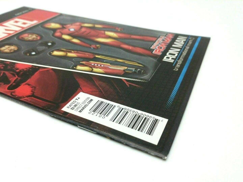 Invincible Iron Man #1 Action Figure Variant Cover Marvel Coimcs Volume 2 2015 image 4