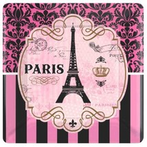 "Day In Paris 8 10"" Lunch Plates Birthday Party - $6.26"