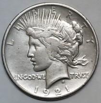 1921 Peace Silver Dollar Coin -  Lot # E 114