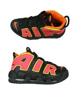 Nike Air More Uptempo Womens Size 8 Shoes Black Hot Punch Volt NEW 91759... - $98.95