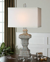 "SAN MARCELLO 32"" AGED RESTORATION FINISH CERAMIC TABLE BUFFET LAMP ACRYL... - $319.00"