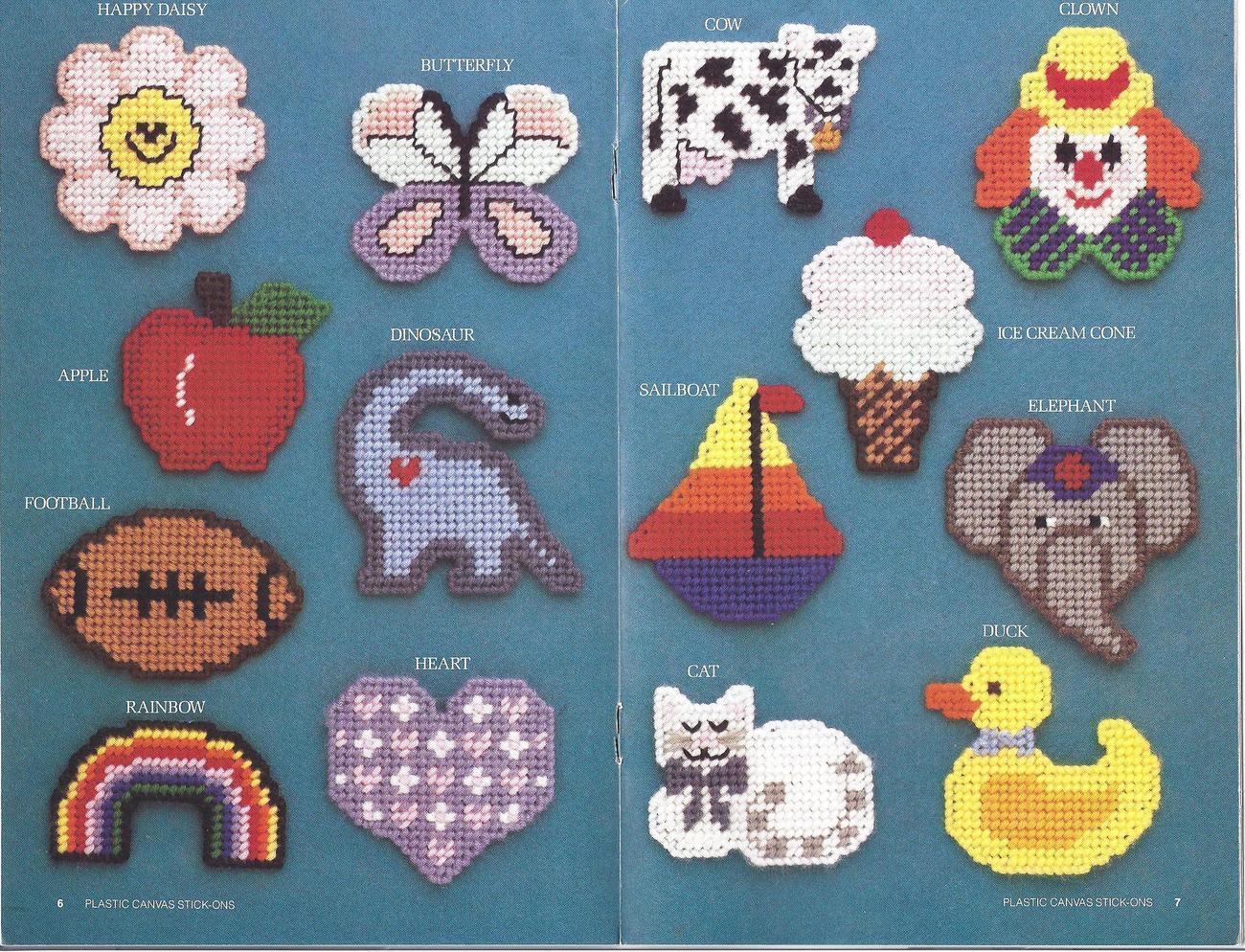 Plastic Canvas Stick-Ons 14 Designs Annie's Attic