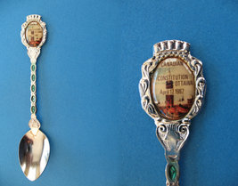 Canadian Constitution Ottawa Parliament 1982 Souvenir Spoon - $5.99