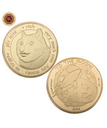 WR Very Much Wow Dogecoin To The Moon Gold Commemorative Coin Teens BDay... - $4.52