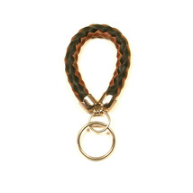 Braided leather keyring - $9.00