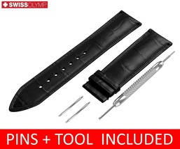 For Tissot Watch Black Leather Strap Band Clasp 18 19 20 21 22mm - $12.18