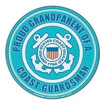 Magnetic Bumper Sticker - Proud Grandparent U.S. Coast Guard - Round Mil... - $6.99