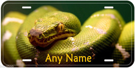 Emerald Tree Boa Snake Personalized Aluminum Car Novelty License Plate P01 - $14.80