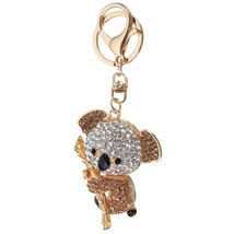 Cute Crystal Koala Holding The Branches Pendant Bag Keyring Keychain - $14.22