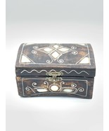 Wooden Chest With White Opal Like For Jewellery - $33.08
