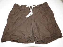 "Tommy Hilfiger 0432014 shorts 8 brown 7 1/4"" inseam juniors womens EUC - $16.04"