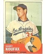 1963 Topps dodger sandy koufax & pittsburgh pirates harvey haddix mispri... - $9,999.99