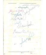1964 ,sandy koufax,charles comiskey,jimmie dykes,warren giles,autographs... - $1,500.00