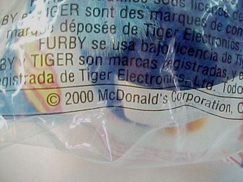 2000 McDonald's Happy Meal Furby Owl No. 4  Premium Toy -MIP