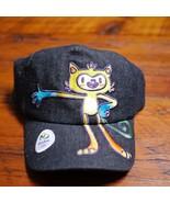 NEW NWT Official RIO Olympics 2016 Mascot VINICIUS Black Cotton Ball Cap... - $39.99