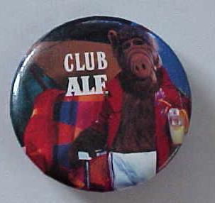 Alf Club Ale Pinback