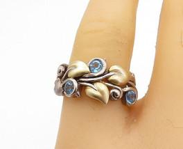 Barbara Bixby 925 Silver & 18K Gold - Vintage Topaz Floral Ring Sz 8 - R17297 - $94.44