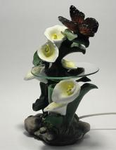 Butterfly's With Lily's Polyresin Electric Oil Warmer Dimmer - $29.95