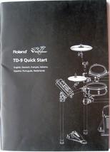 Roland TD-9 Midi Drum Module Original Quick Start Owner's Manual Booklet - $19.79