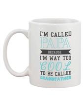 Cool To Be Called Grandfather Funny Mug PaPa Cup Christmas Gift for Grandpa - €13,18 EUR