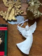 Estate Lot of Hallmark Heavenly Gilt Painted Resin Sparkly Silver Plastic White  image 3