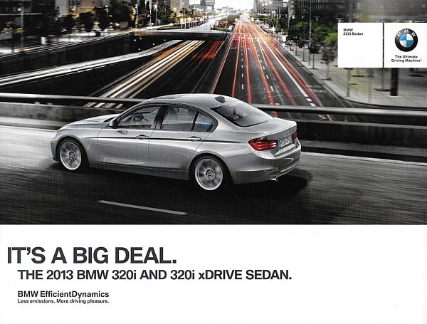 2013 BMW 320i sales brochure catalog folder 13 US xDrive