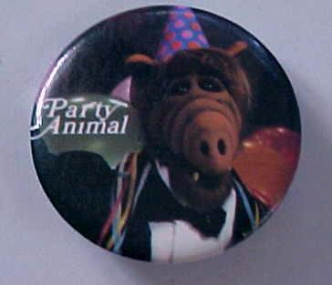 Alf Party Animal Pinback