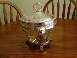 Vintage SIlverplated Server / Warmer Silverplate Casserole Server with Lid Kent  - $39.65