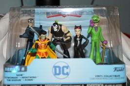 Nuovo Funko Eroe World Dc Comics Serie 8 Personaggi Robin Catwoman Bane - $14.83