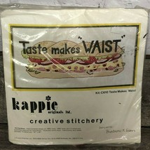 "VTG Kappie Originals Creative Stitchery Kit C610 Taste Makes Waist 10""X2... - $31.68"