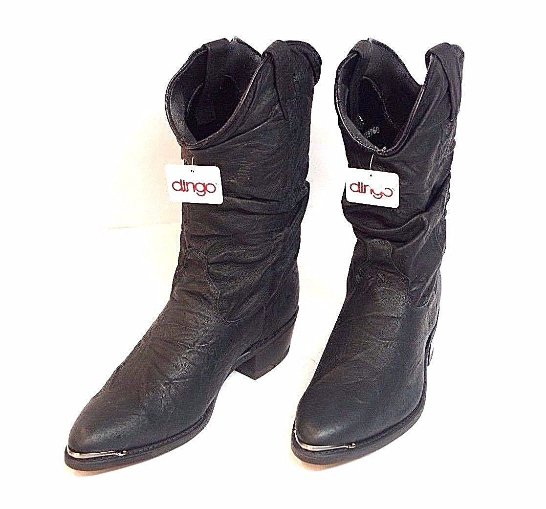 a6236eef272 Dingo Men's Leather Black Slouch Boots Size and 39 similar items