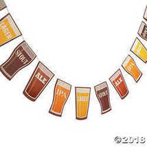 7' Cardboard Beer Garland Octoberfest Party Decoratio - $6.11