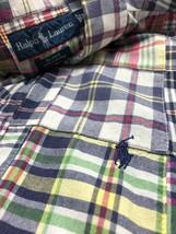 Polo Ralph Lauren Blake Men Shirt Patchwork Madras Short Sleeve Button Up XL - $27.80