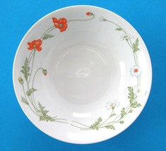 """Vintage 1950s Norleans Japan MELODY 9"""" Serving Bowl Dinnerware Poppies D... - $9.74"""
