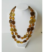 Double Strand Faux Agate Necklace - $58.50