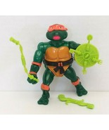 "TMNT Wacky Rock N Roll Michelangelo 4.5"" Action Figure 1989 Playmates Used - $25.00"
