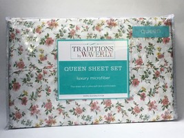 Traditions by Waverly Queen Sheet Set Luxury Microfiber Garden Market Sp... - $33.68