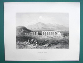 TURKEY Pisidian Antioch Ancient Caesareia - 1854 Antique Print Engraving - $30.60