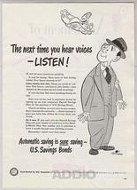 1948 U.S. Savings Bonds Hank Ketcham Cartoon Angel Businessman Print Ad ... - $9.74