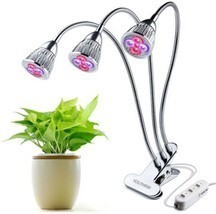 LED Plant Grow Light Three-Head 15W Clip Desk Grow Lamp With 360 Degree ... - $46.31