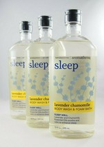 (3) Bath & Body Works Aromatherapy Sleep Lavender Chamomile Wash Foam Ba... - $26.19