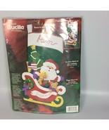 Bucilla personalized Christmas Stocking kit Santa sleigh felt applique - $74.99