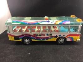 JAPAN DAIYA TOY Tin Toy RARE VINTAGE MELODY BUS 34cm 1982 ALPS TOY - $118.75